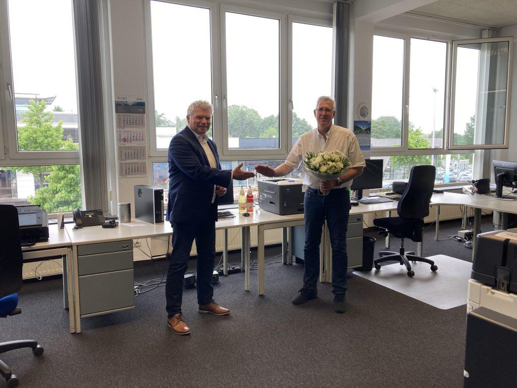 Jörg Philipsenburg feiert sein 35 jähriges Jubiläum